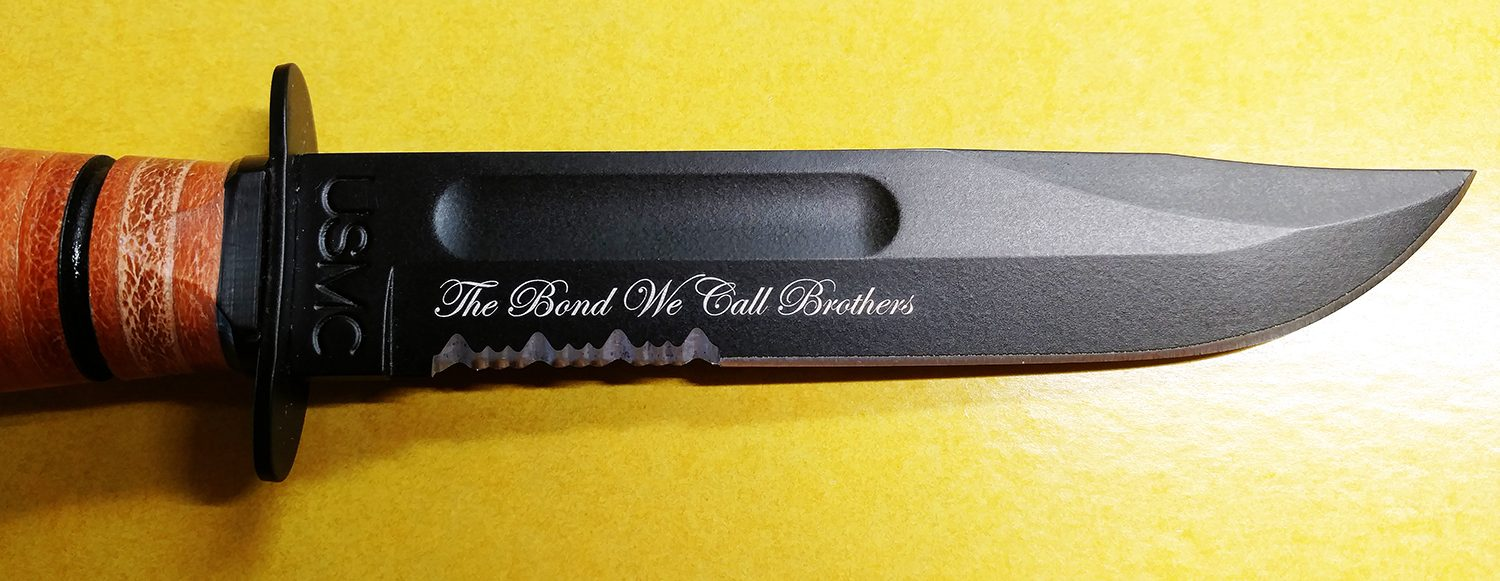 customized knife for life
